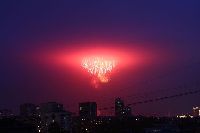 Фотодневник. Салют в честь Дня Победы 2012